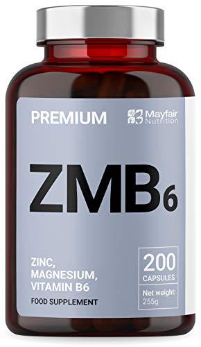 Z-MAX | 200 Premium Zink, Magnesium & Vitamin B6 Kapseln| 3 Monatsvorräte | Hergestellt von Iron Ore Health im UK