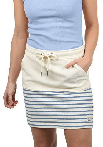 DESIRES Pippa Damen Kurzer Rock Sweatrock Minirock Mit Streifen-Muster Aus 100{fa8b3099877c6c088eec8d5cab08af58e242b4aee859e9c181aff7641b114051} Baumwolle, Größe:XL, Farbe:Sky Blue (1025)