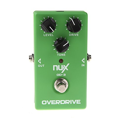 NUX Overdrive OD-3 Guitarra Eléctrica Efecto Pedal Ture Puente Verde