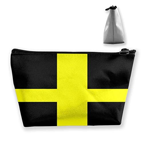 Drapeau Saint David Portable Maquillage Recevoir Sac de Rangement Grande Capacité Poches Main Travel Wash Bag