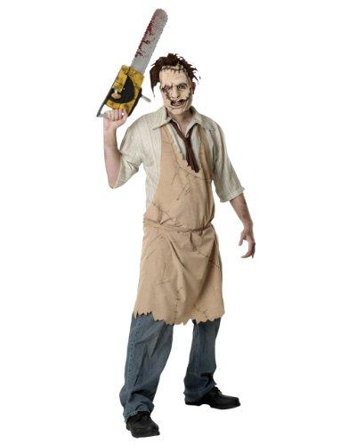 Texas Chainsaw Massacre Kostüm, Herren Leatherface Kostüm, Standard, Brust 111,8cm Taille 76,2–86,4cm