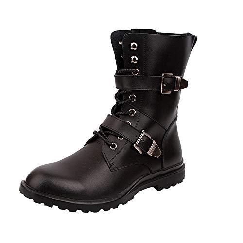 Shoes Botas Martin para Hombre,Botas Altas de Cuero Casual,Botas de Senderismo...