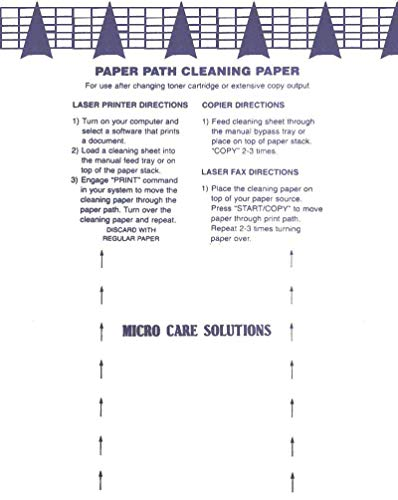 Microcare Laser Printer Cleaning Sheet (8.5 x 11') 20 Sheets