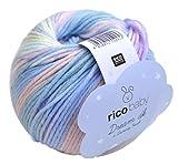 Rico Baby Dream dk Fb. 009, weiche Babywolle mit Farbverlauf zum Stricken & Häkeln