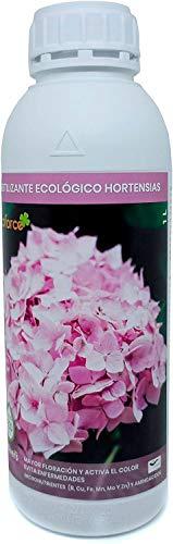 CULTIVERS Fertilizante Ecológico Hortensias Líquido 1 L. Mayor Floración y Intensifica el Color. Plantas sanas y Fuertes. Abono 100% Natural
