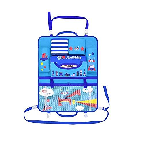 DXQDXQ Plegable 2 Pack Cartoon Organizadores para Coche Universal Protector de Asiento Kick Mats de Coche Organizador para Asientos de Coches para Niños Mesa (Color : Blue)