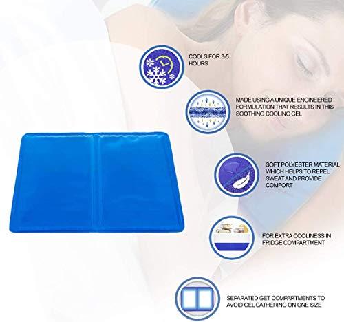 JANAINA BONA Premium quality 2X-Cooling-Gel-Pillows-LARGE-Improving-Sleep,-Flu-&-Fevers,-Migraine-Headaches(cool pillow/pillow cooler/pillow cooling pad/cooling pillow mat/cool pillows for sleeping)