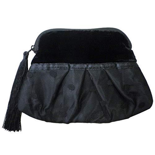(ジル スチュアート) JILL STUART ポーチ 小物入れ パーティー ドレス ブラック タッセル リボン ベロア 化粧 メイク コスメ