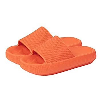 Menore Slippers for Women and Men Quick Drying EVA Open Toe Soft Slippers Non-Slip Soft Shower Spa Bath Pool Gym House Sandals for Indoor & Outdoor Caramel