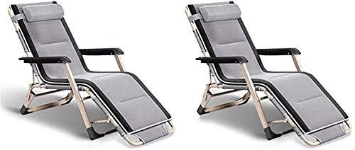 Silla Gravedad Cero, Sillas de jardín plegables de tumbonas livianas FGVDJ, conjunto de 2 tumbonas reclinables plegables, reclinando al aire libre, sillón de gravedad cero , Cero sillas de gravedad