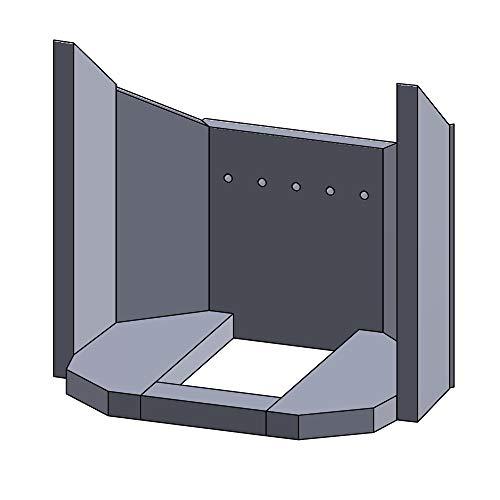 Flamado Feuerraumauskleidung Komplettset 8-teilig passend für Justus Kamin Ersatzteile Kaminofen Brennraumauskleidung Vermiculite 1.150°C