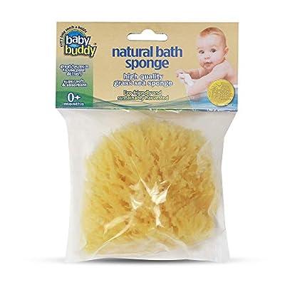 Baby Buddy Natural Baby Bath Sponge 4in Soft Grass Sea Sponge Soft on Tender Baby Skin, Biodegradable