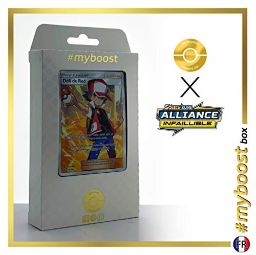 Défi de Red (Rots Herausforderung) 213/214 Full Art Trainer - #myboost X Soleil & Lune 10 Alliance Infaillible - Box mit 10 französisch Pokémon-Karten