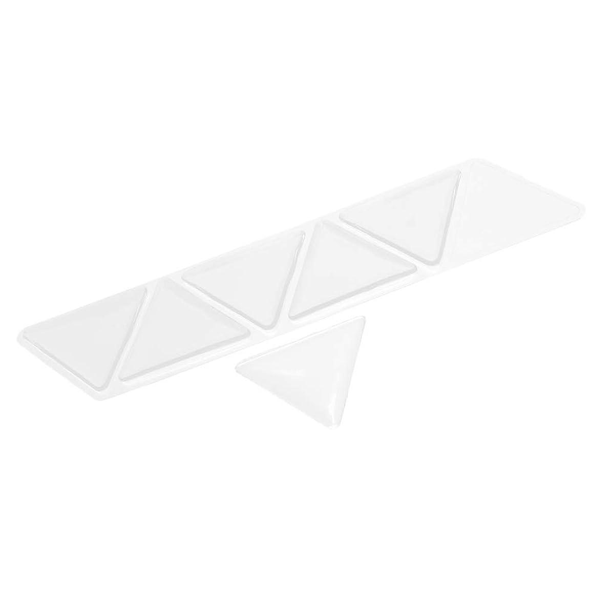 プレビュー記念碑リアル額パッド スキンケアパッド アンチリンクル シリコン 三角パッド 再使用可能な