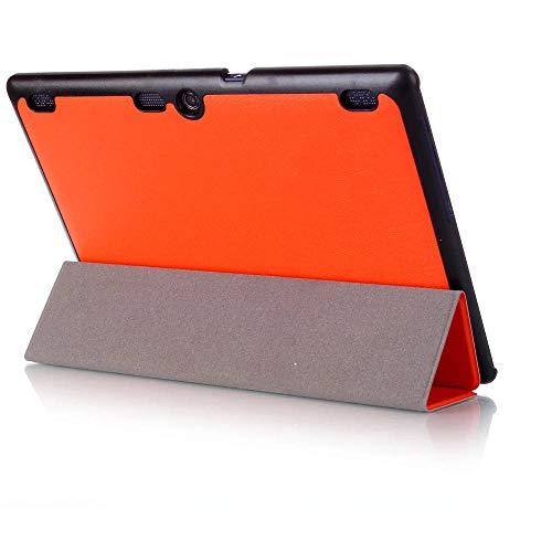 para Lenovo Tab 2 A10 70F Funda de Cuero para Tab2 A10-70 70 A10-70F A10-70L A10-30 X30F Tablet 10.1 Fundas Tablet CAS-Naranja
