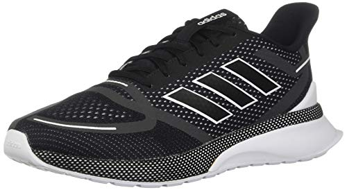 adidas Men's Nova Running Shoe, Black/White, 10 M US