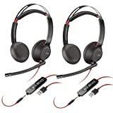 Plantronics Blackwire 5220 USB Type-A Stereo On-Ear Headset (2 Pack)