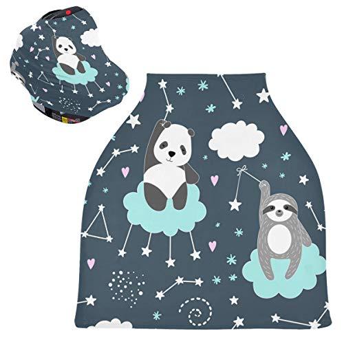 Sinestour Fundas para asiento de coche de bebé con diseño de oso panda de animal - Fundas para cochecito de lactancia y lactancia, toldo multiusos para niños y niñas