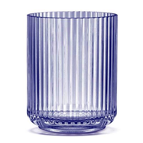 Rosendahl Lyngby Porcelain - Windlicht, Vase - mundgeblasen - Farbe: Blau - Maße (ØxH): 10 x 12 cm