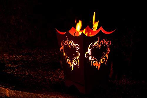 Ferrum Edelrost Feuerkorb Flammenherz - Rost, 1-0225
