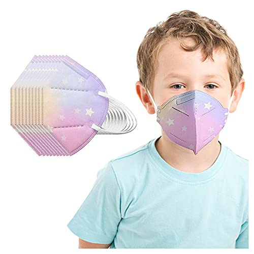 Koippimel 25pcs, Tie-Dye Disposable Face_Masks for Kids, 5-Layers Non-Woven Breathable_Mask for Children 2-10 Years Old Safety_Protection, 0123-099