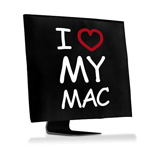 """kwmobile Custodia 4in1 Compatibile con Apple iMac 27\"""" / iMac PRO 27\"""" - Fodero Monitor,Tastiera, Mouse e Cavi - I Love My Mac Bianco/Rosso/Nero"""