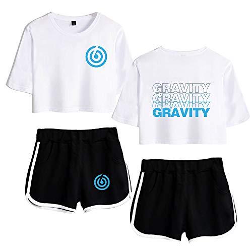 Trainingspak Crop Top T-shirt en Sportshorts 2-Delige Set Gym Outfit Prints Sportwear Trainingspak Sweatsuit Voor Hardlopen Jogging Gym A15276DAY6TXDK