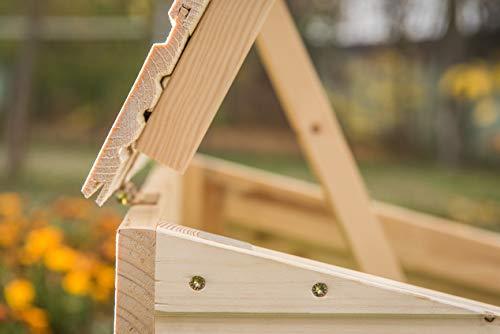 Mähroboter Garage aus Holz – Carport für Rasenroboter - 4