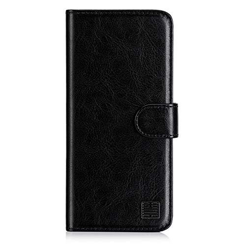 32nd Funda Flip Carcasa de Piel Tipo Billetera para Xiaomi Mi 9 Lite con Tapa y Cierre Magnético y Tarjetero - Negro