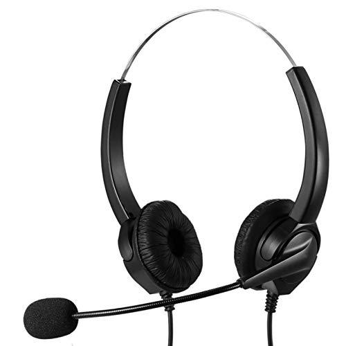 USB-Headset mit Mikrofongeräuschunterdrückung & Audiosteuerung, Komfort für geschäftliche Handykonferenzen Softphone-Konversation Online-Unterricht usw.