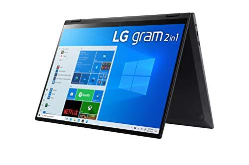 LG - Portátil gram 16T90P-G.AA78B Windows 10 Home, Convertible 2en1 Ultraligero de 40.6 cm (16') WQXGA 16:10 IPS (1.4 Kg, 16h, Intel EvoTM i7 11ª Gen, Iris Xe, 16GB RAM, 512GB SSD NVMe), Negro