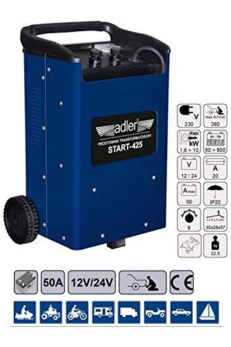 Matel Service acculader met starthulpfunctie gelijkrichter 360 ampère 12 V 24 V 800 Ah