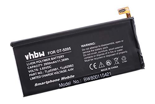 vhbw Li-Polymer Akku 2950mAh (3.85V) passend für Handy Smartphone Telefon ALCATEL One Touch Pop 4S, Pop 4S LTE, Shine Plus