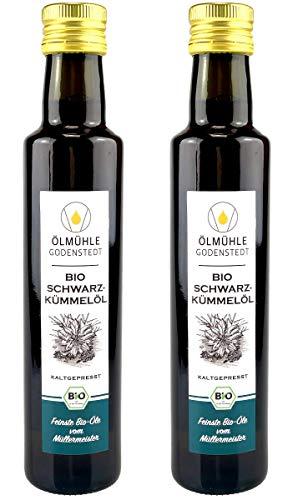Bio Schwarzkümmelöl 1 Liter (2x 500ml) direkt aus der Ölmühle Godenstedt