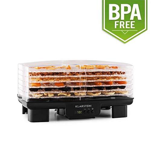 Klarstein Bananarama Déshydrateur alimentaire (minuterie, 40°-70°C, 550W, 6 étages, écran LCD) - noir