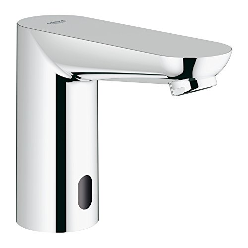Grohe 36314000 Euroeco Cosmopolitan E Single Hole Touchless Electronic Bathroom Faucet, Starlight Chrome
