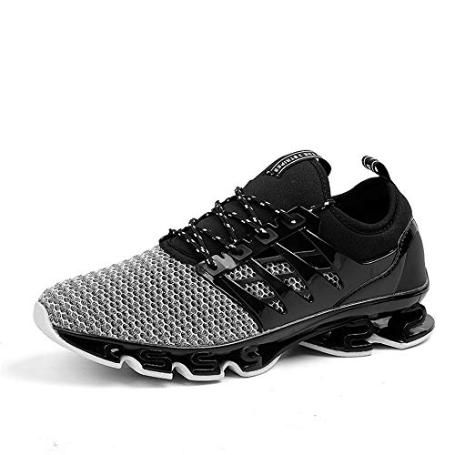 Zapatillas Deporte Hombre Zapatos para Correr Athletic Cordones Hombre Aire Libre y Deporte Transpirables Casual Zapatos Gimnasio Correr Sneakers(dwwb.Blanco,44 EU)
