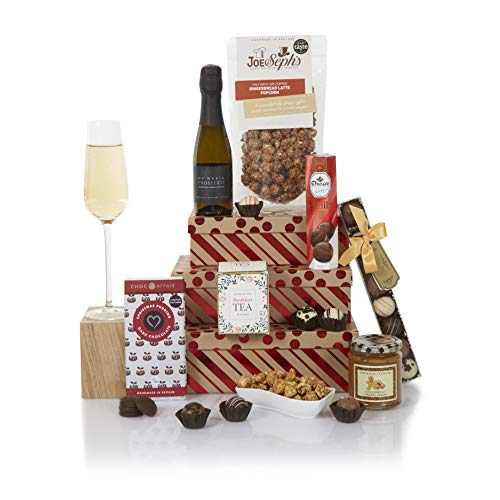Festive Prosecco Gift Tower - Christmas Hampers - Tower of Xmas Treats Hamper