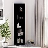 Book Shelves for Living Room, Freestanding Bookshelves Storage Display Cabinet, 5-Tier Book Cabinet Black 15.7