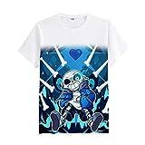 Undertale Cuello Redondo Popular Ocasionales Manga Corta T-Shirt Sencillas Estampados Camisetas para Hombre y Mujer
