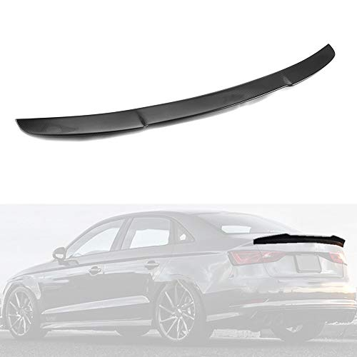 MotorFansClub Rear Spoiler Fit for Compatible with Audi A3 S3 RS3 Sedan 2014-2019 Duckbill High Kick Trunk Wing Spoiler (Real Carbon Fiber)