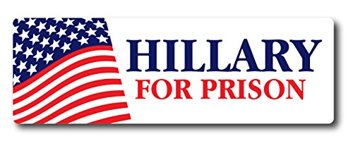 BOLDERGRAPHX 4094 2 pack Hillary Clinton For Prison Presidential Election - Decal Bumper Sticker Window- Corruption fraud Obama Hilary Bill Money