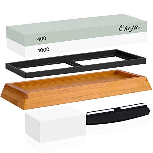 Chefic Whetstone 2-IN-1 Premium Sharpening Stone 400/1000 Grit...