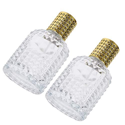 Minkissy 4 Piezas 50 Ml Botellas de Spray de Vidrio Viaje Botella de Perfume Vacía Botella Transparente de Maquillaje Recargable para Perfume Botellas de Muestra de Aceites Esenciales