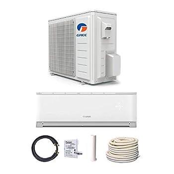 GREE 24,000 BTU 19 SEER LIVO Gen 3 Wall Mount Mini Split A/C Heat Pump 208/230V - Built-in Wi-Fi - Comfort Value Kit