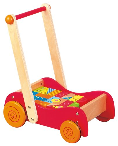 Lelin Toys - 31300 - Véhicule Pour Enfant - Chariot À Pousser Avec Blocs - 30 Pièces