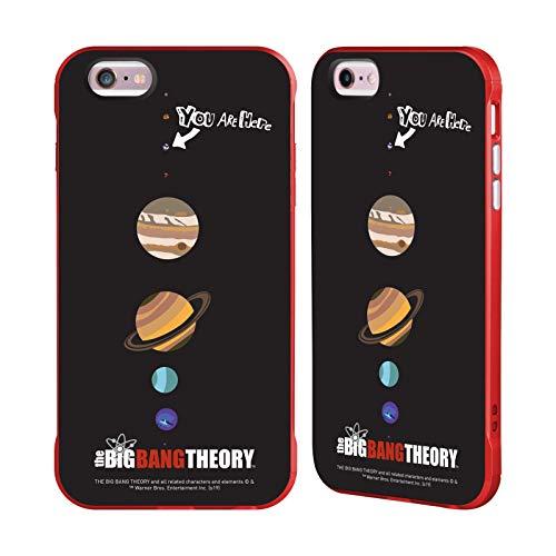 Head Case Designs Ufficiale The Big Bang Theory Terra Grafica Arti Cover Fender Rossa Compatibile con Apple iPhone 6 Plus/iPhone 6s Plus