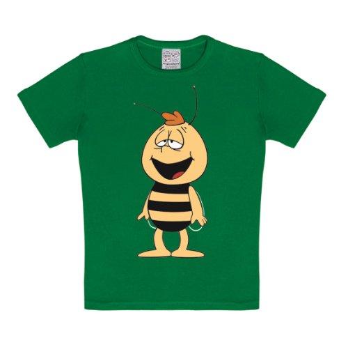 Logoshirt Biene Maja - Willi T-Shirt Kinder Jungen - grün - Lizenziertes Originaldesign, Größe 158-164