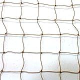 "Heavy-Duty UV-Treated Bird Netting, 25x25', 2"" mesh, Biege, Physical Bird Barrier, Professional-Grade"