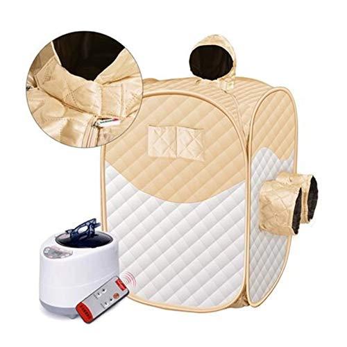 Upupto Dampfsauna-Sauna-Zelt Ganzkörper-Spa-tragbare persönliche Sauna-SPA-Maschine mit Fernbedienungssauna-Generator,Gelb